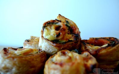 Scrumptious Puff Pastry Pizza Scrolls