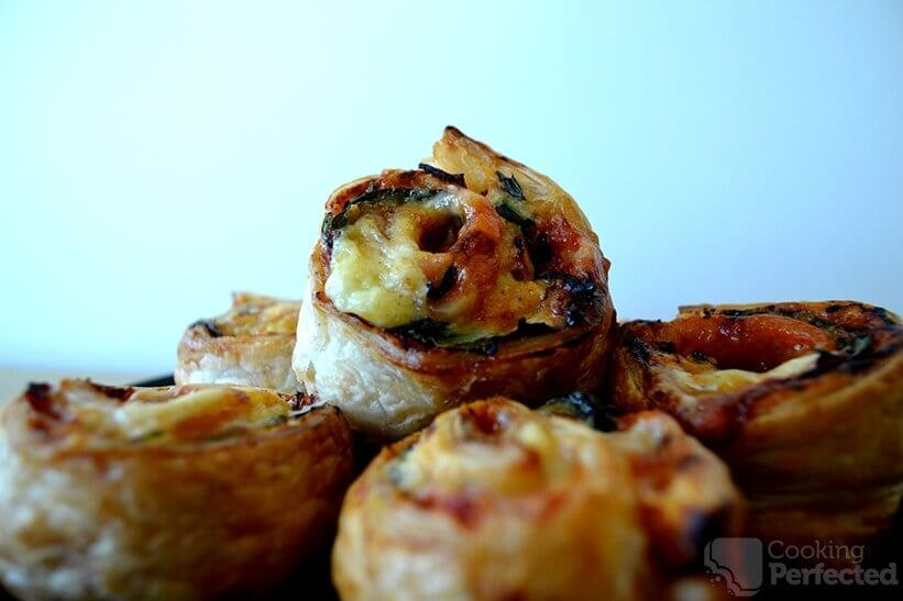 Puff Pastry Pizza Scrolls