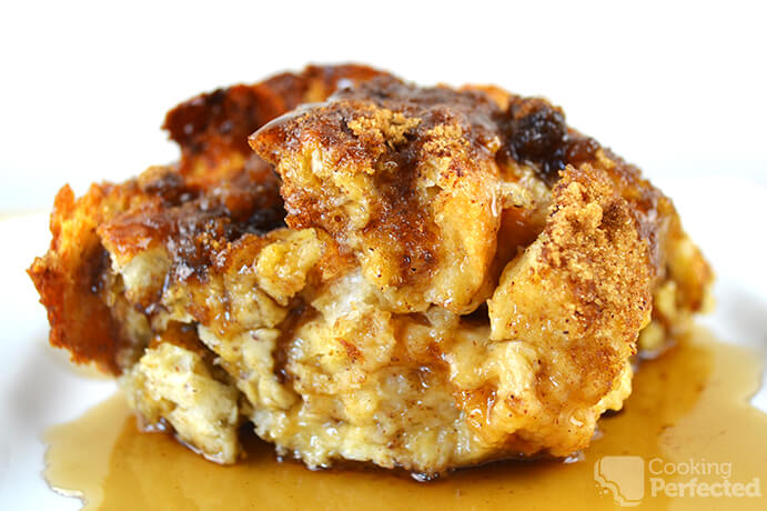 Oven Baked French Toast Casserole with Maple Syrup