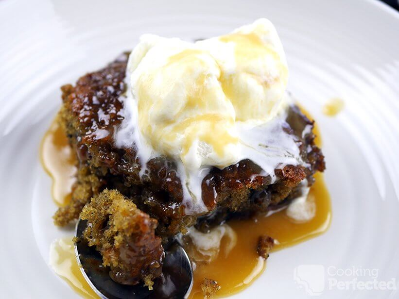 Gluten-Free Sticky Date Pudding with ice cream