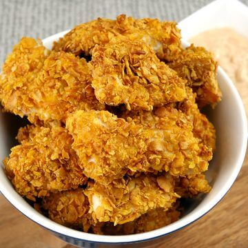 Super Crunchy Easy Cornflake Chicken