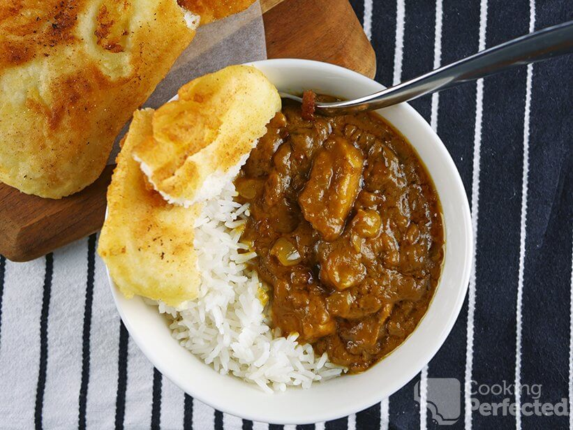 Peanut Chicken Curry with Naan Bread