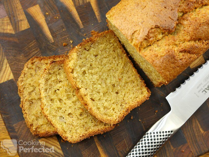 Sliced Gluten-Free Banana Bread