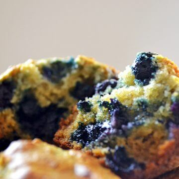 Moist Paleo Blueberry Muffins